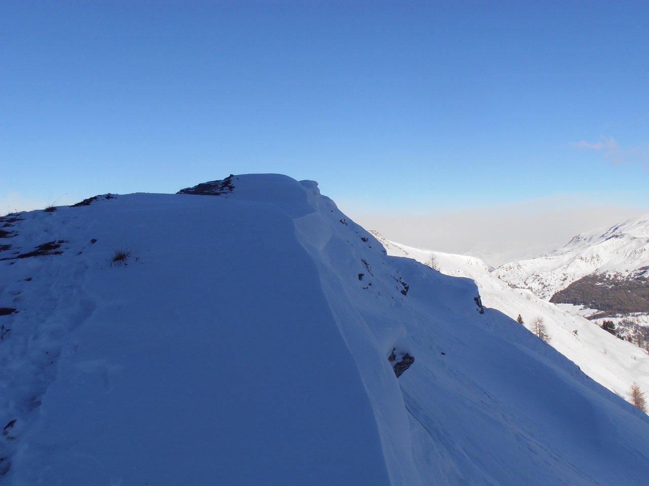 01 - arrivo in cima dalla cresta sud