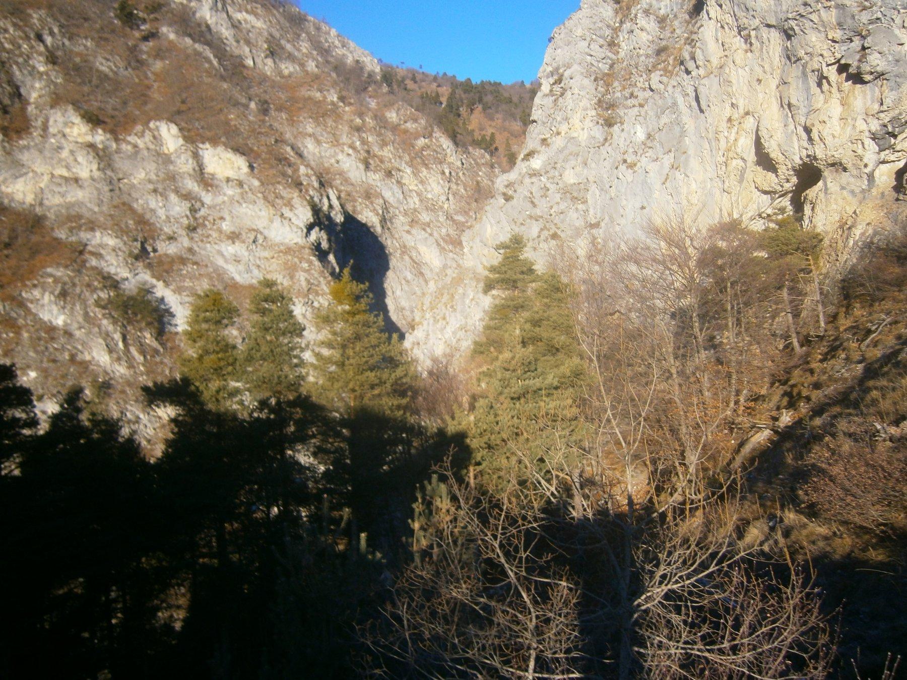 Il canyon da risalire