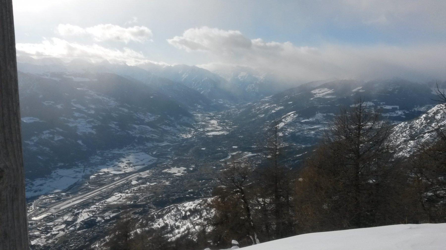 Aosta dalla vetta