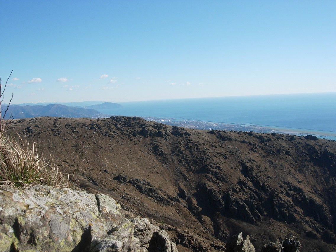Panorama verso Genova e il promontorio di Partofino