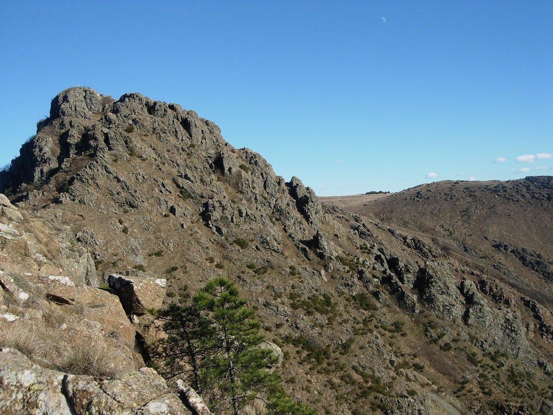 Dalla cresta S.O. la cima P.ta Martin. Sulla destra parte della Cresta Federici