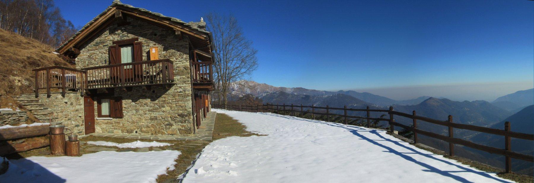 Splendido panorama dall'Alpe