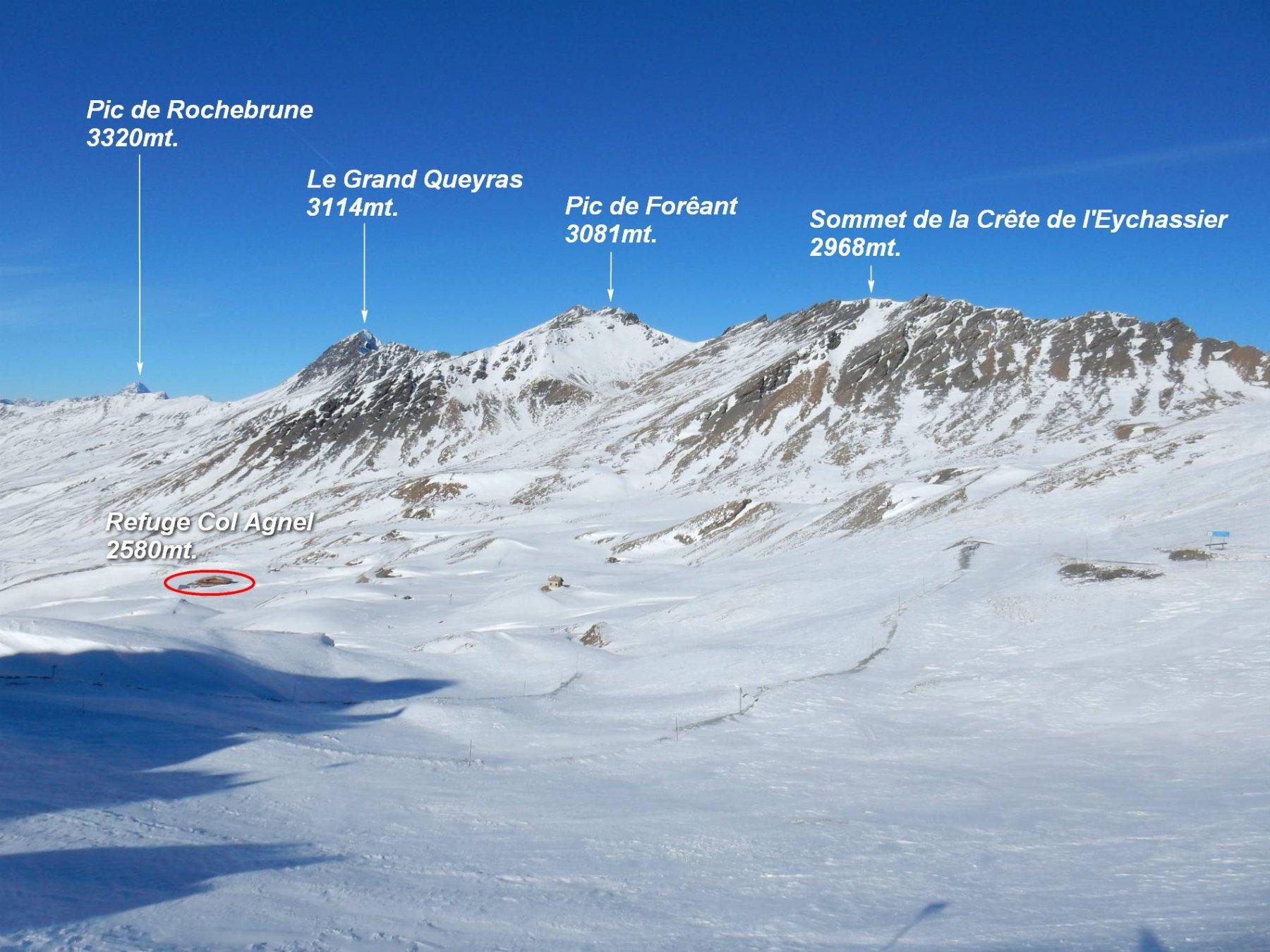 Panorama dal Colle dell'Agnello 2748mt.