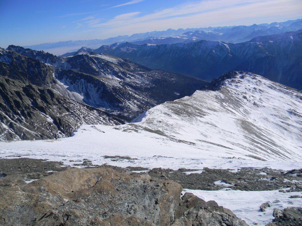 dalla vetta la cresta Savarex