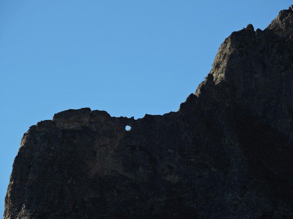Il foro sulla montagna