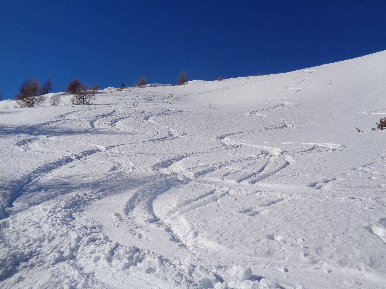 ultimo tratto su neve splendida