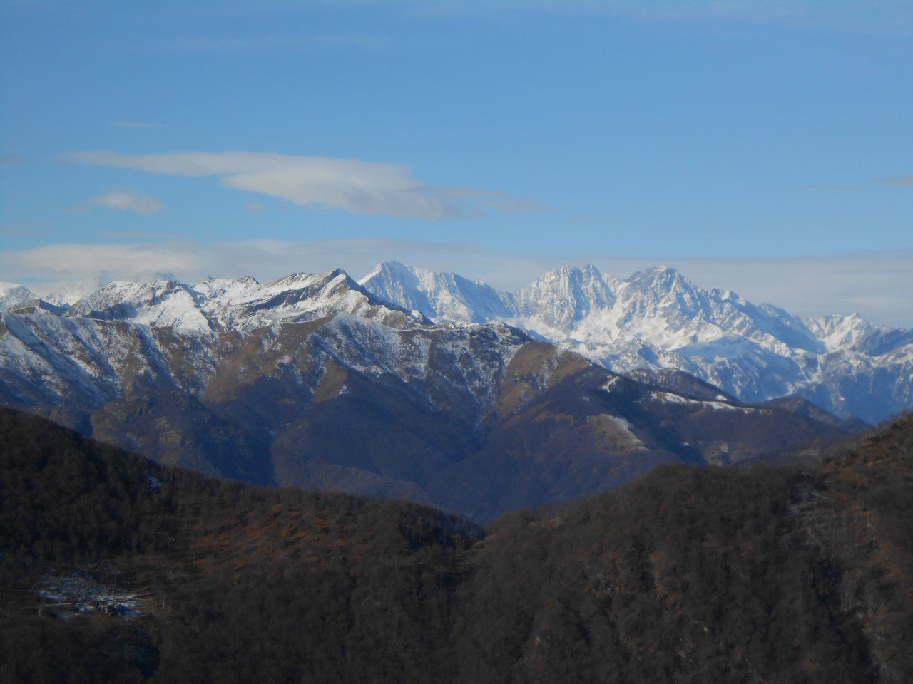 Panorama sulle cime Svizzere