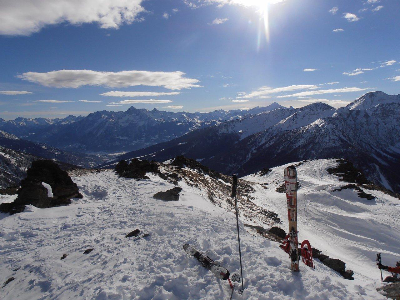 01 - in cima, vista verso Aosta
