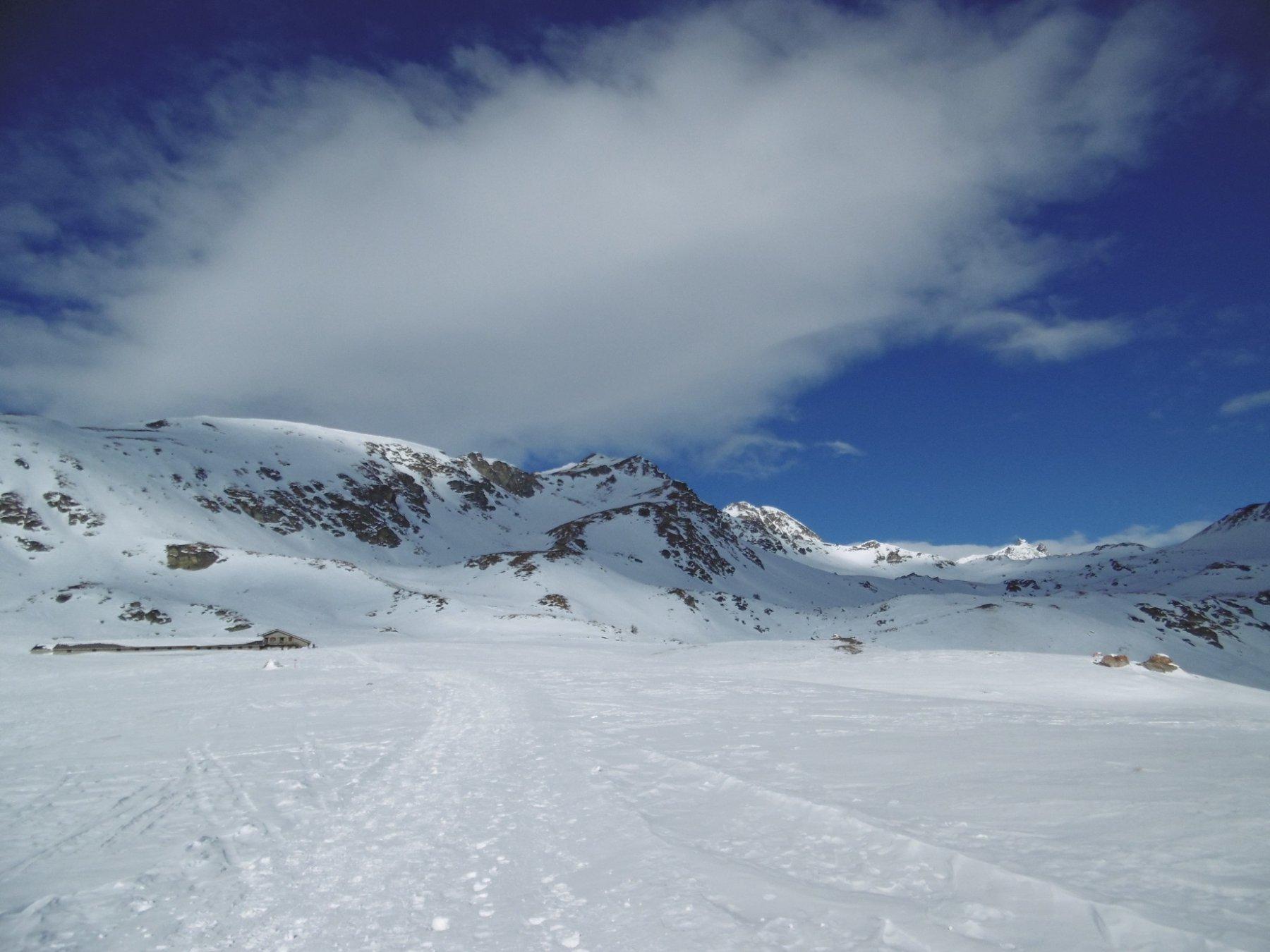 Le condizioni oggi all'altezza dell'alpe Tsa Fontaney...