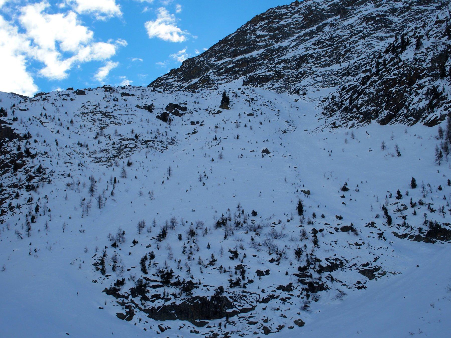 Ripidi pendii visti dall'alpeggio di Foillou
