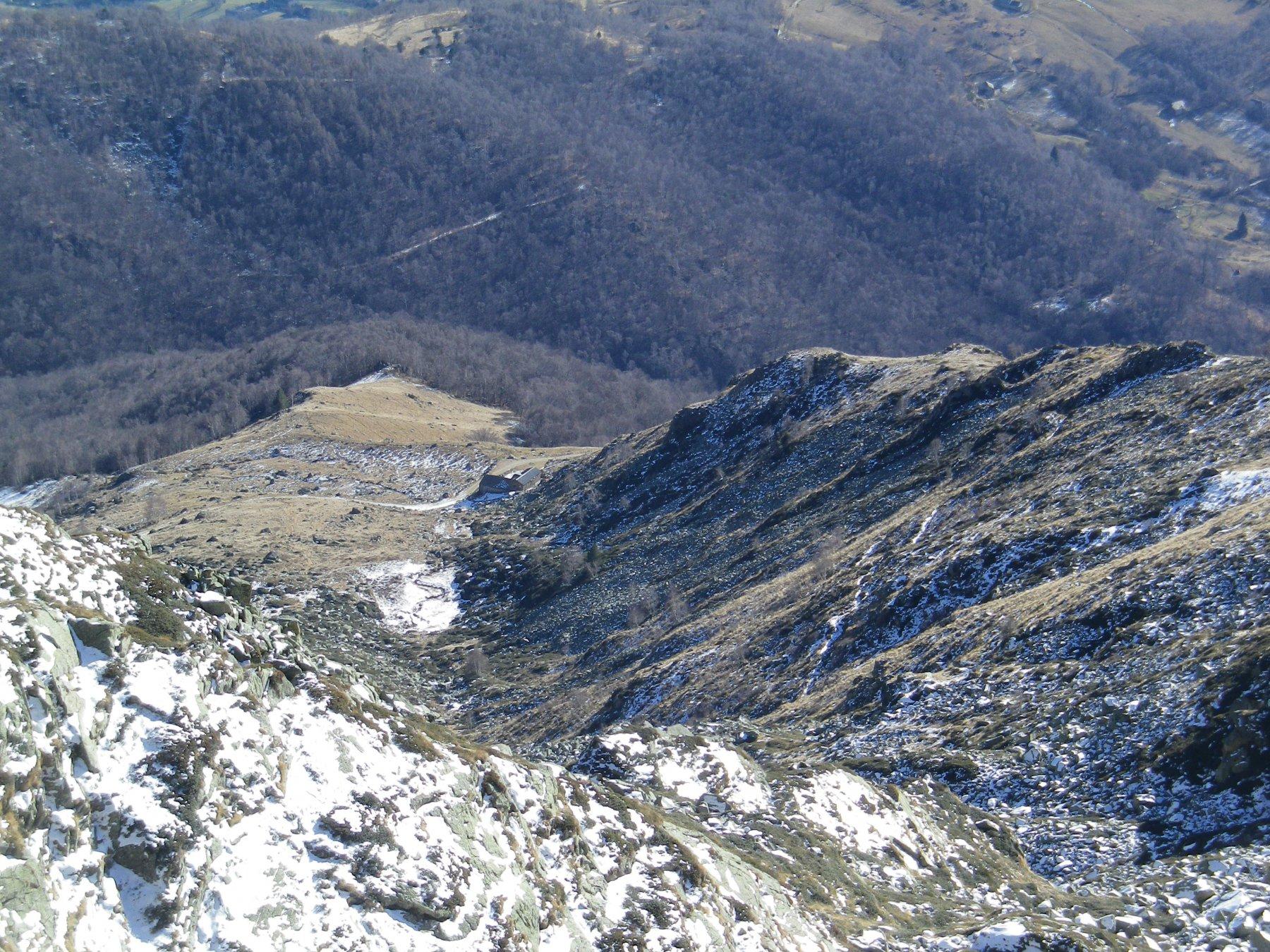 a picco sull'alpe Pinalba