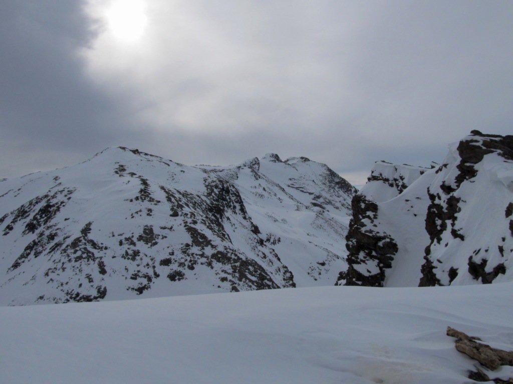 Verso L'Entrelor, Punta Percià in primo piano.