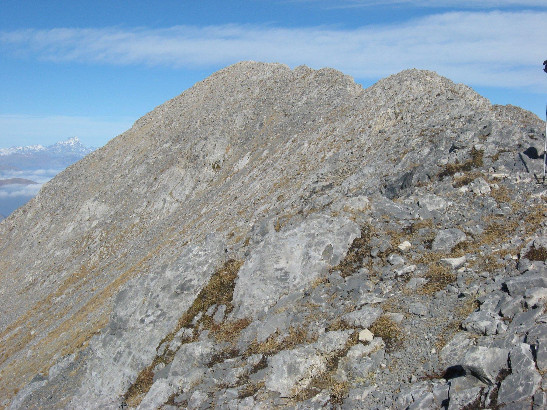 la cresta verso il Bussaia visto dalla croce della rocca d'Orel