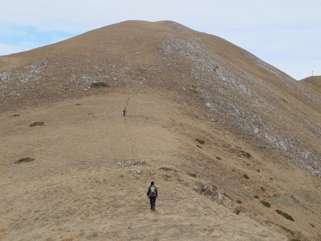 Il dorsalone verso il Monte Pianard