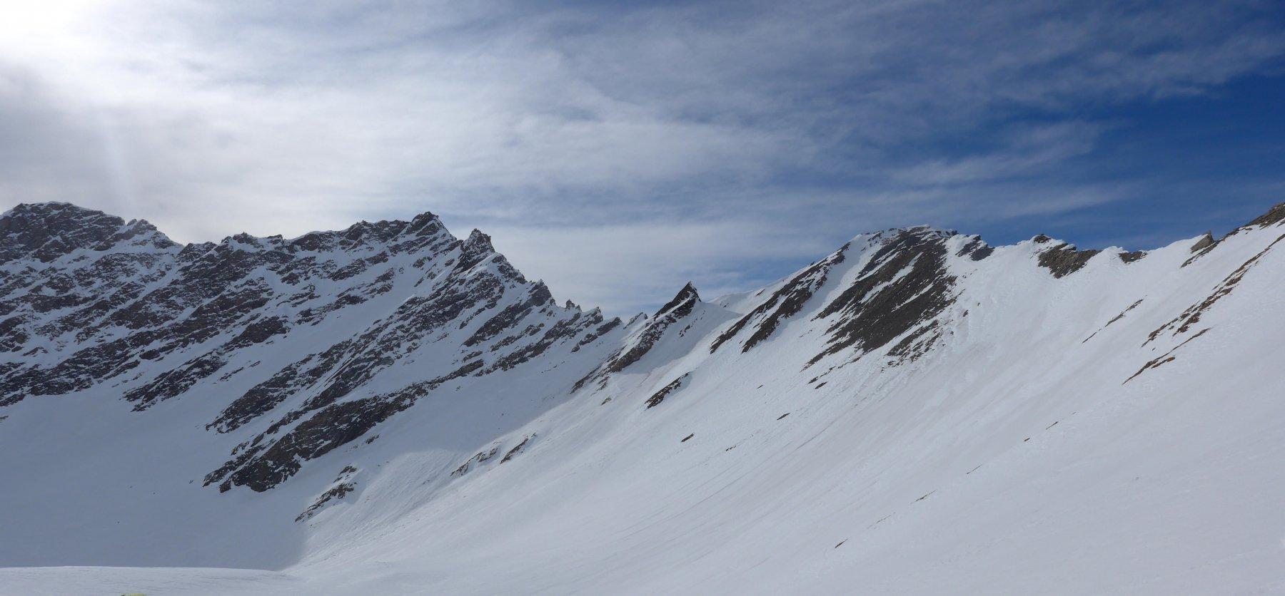 panoramica del colle, tra Aiguille d'Artanavaz e Mont Chichet