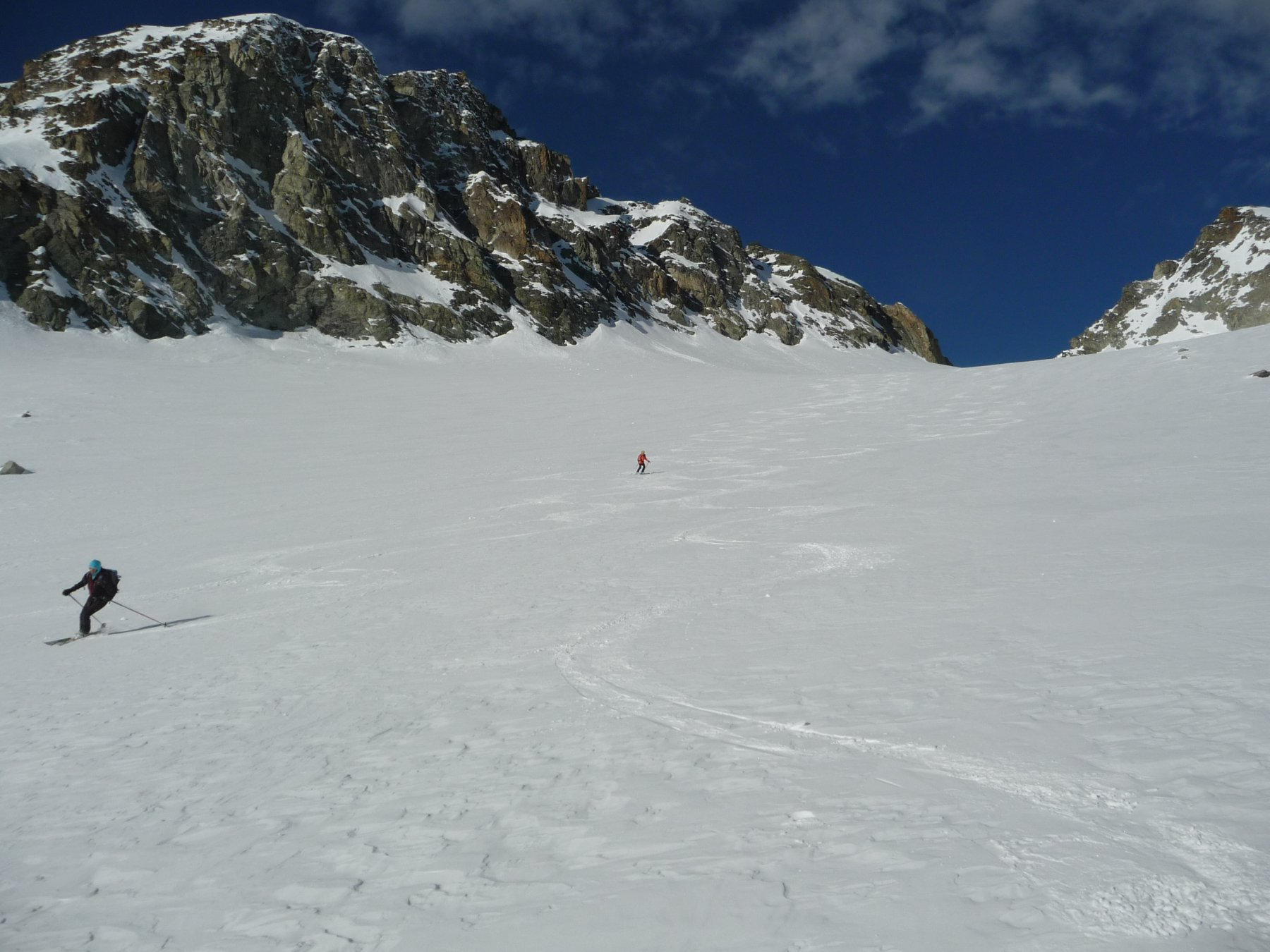 Curve sul ghiacciaio