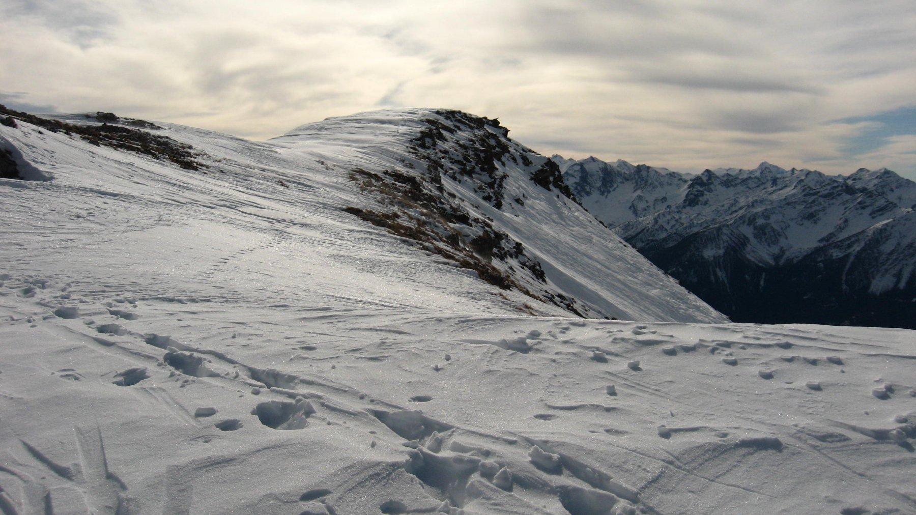 Arrivo, vista verso valle centrale