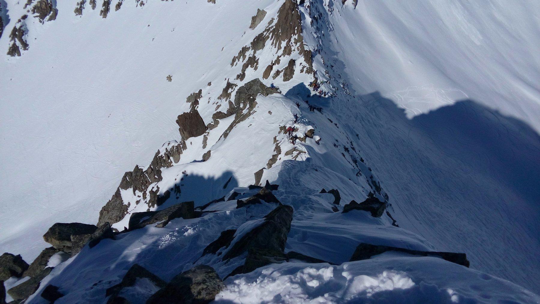 La cresta che conduce in vetta