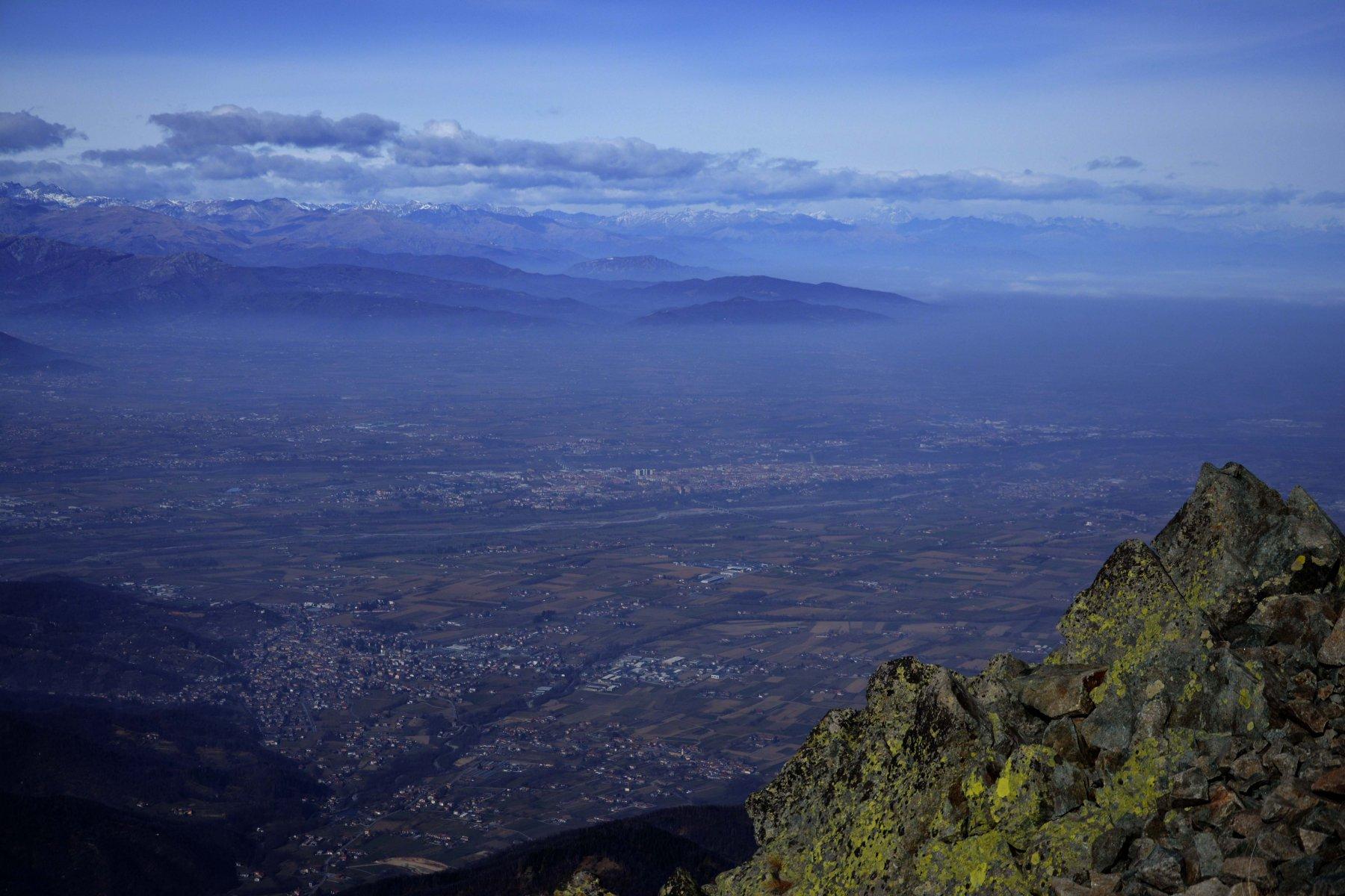 vista su Cuneo dalla cima