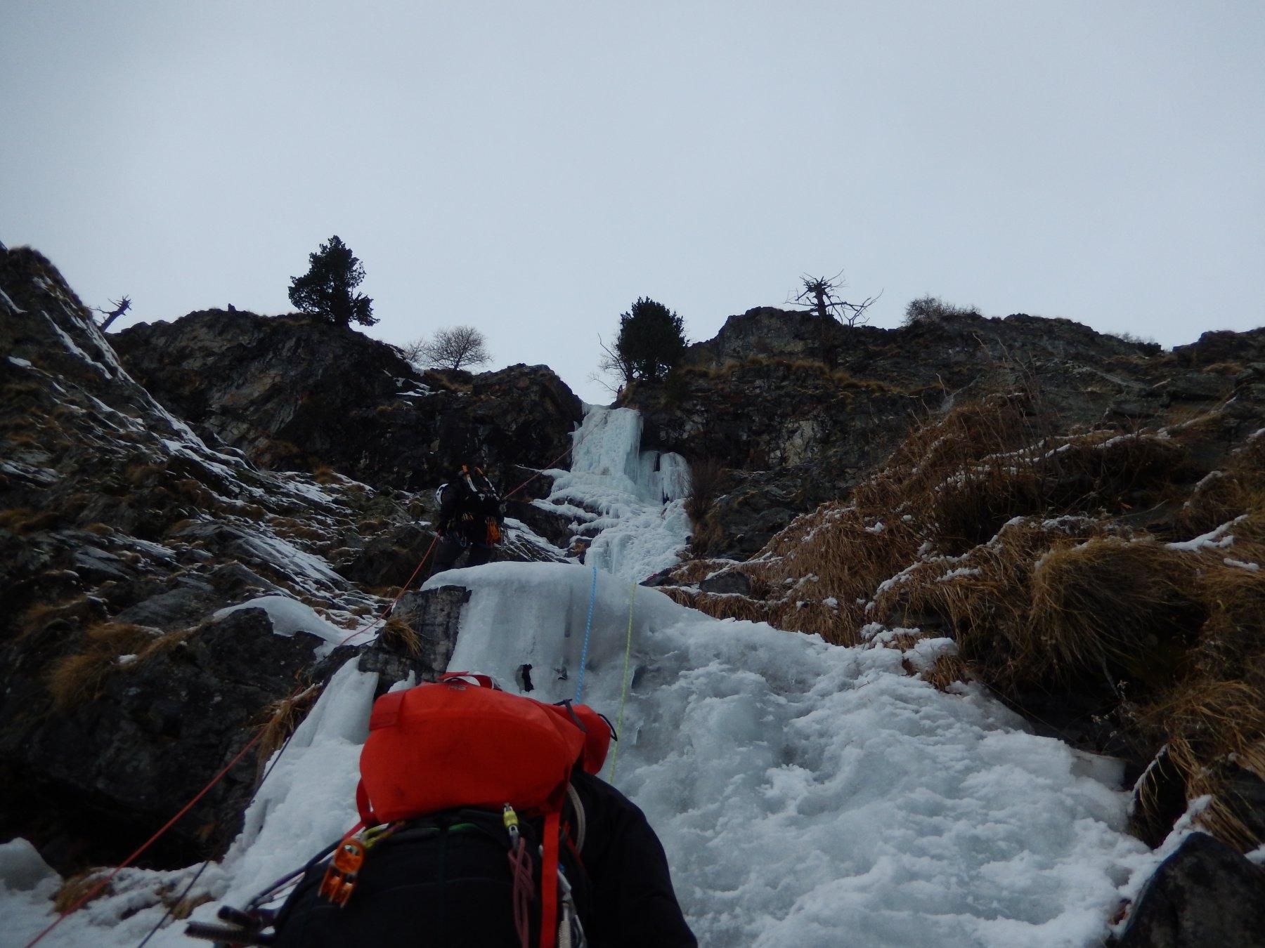 La parte mediana della cascata