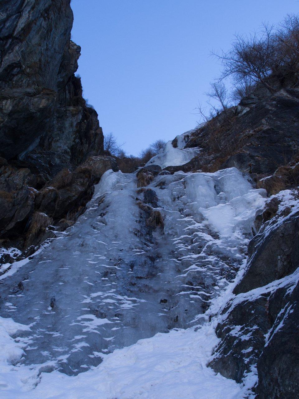 primo tiro ghiaccio sottile in partenza
