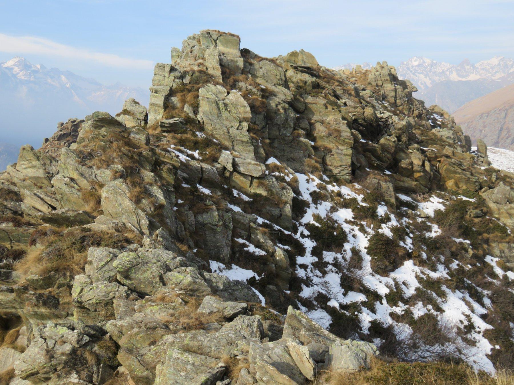 La cresta del Roc delle Teste