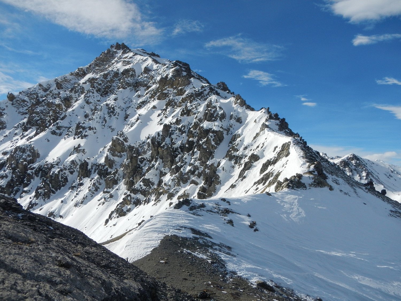 vista sulla Cima della Croix Carail 2584 m.