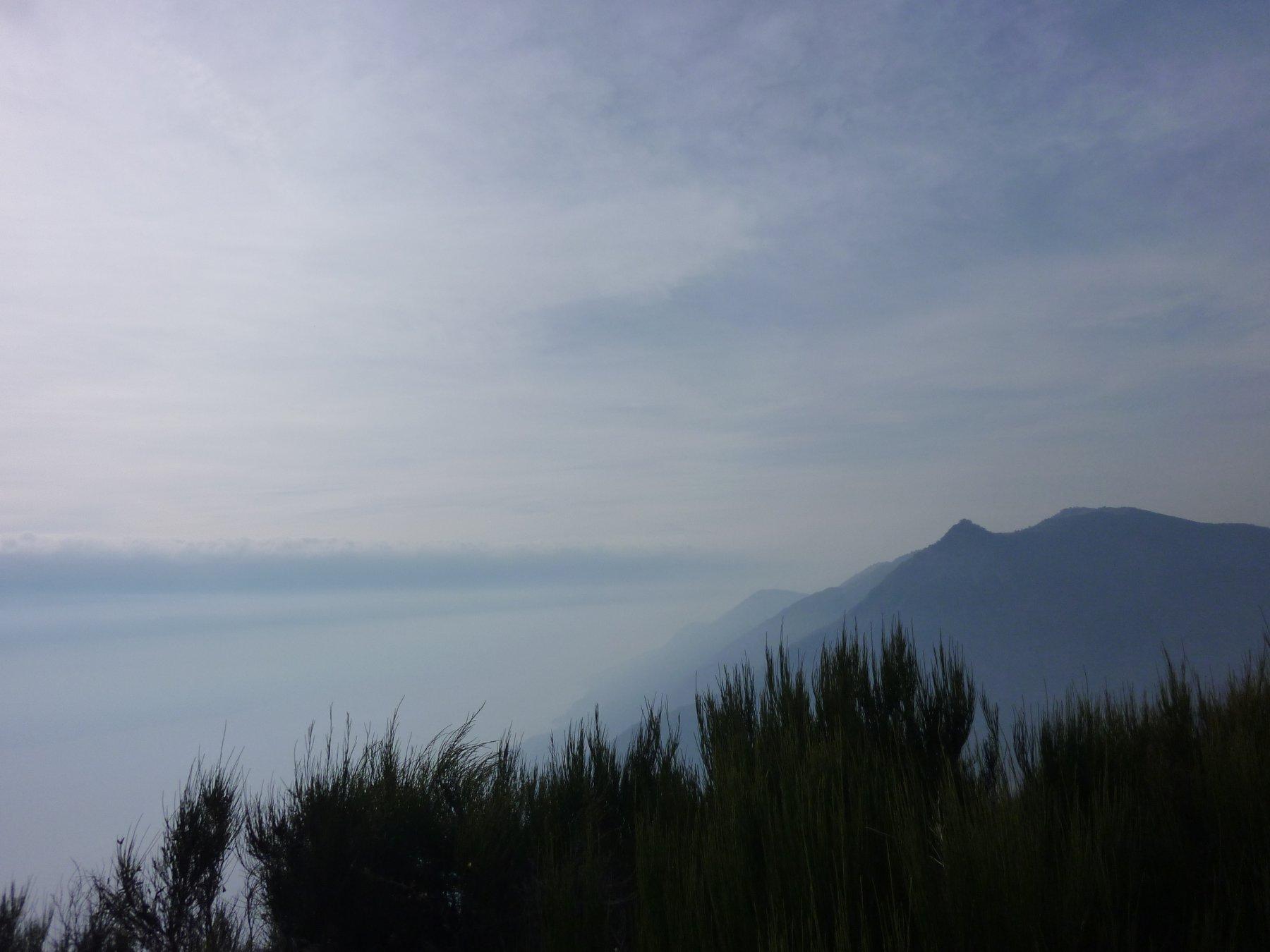 Dalla cima: il lago