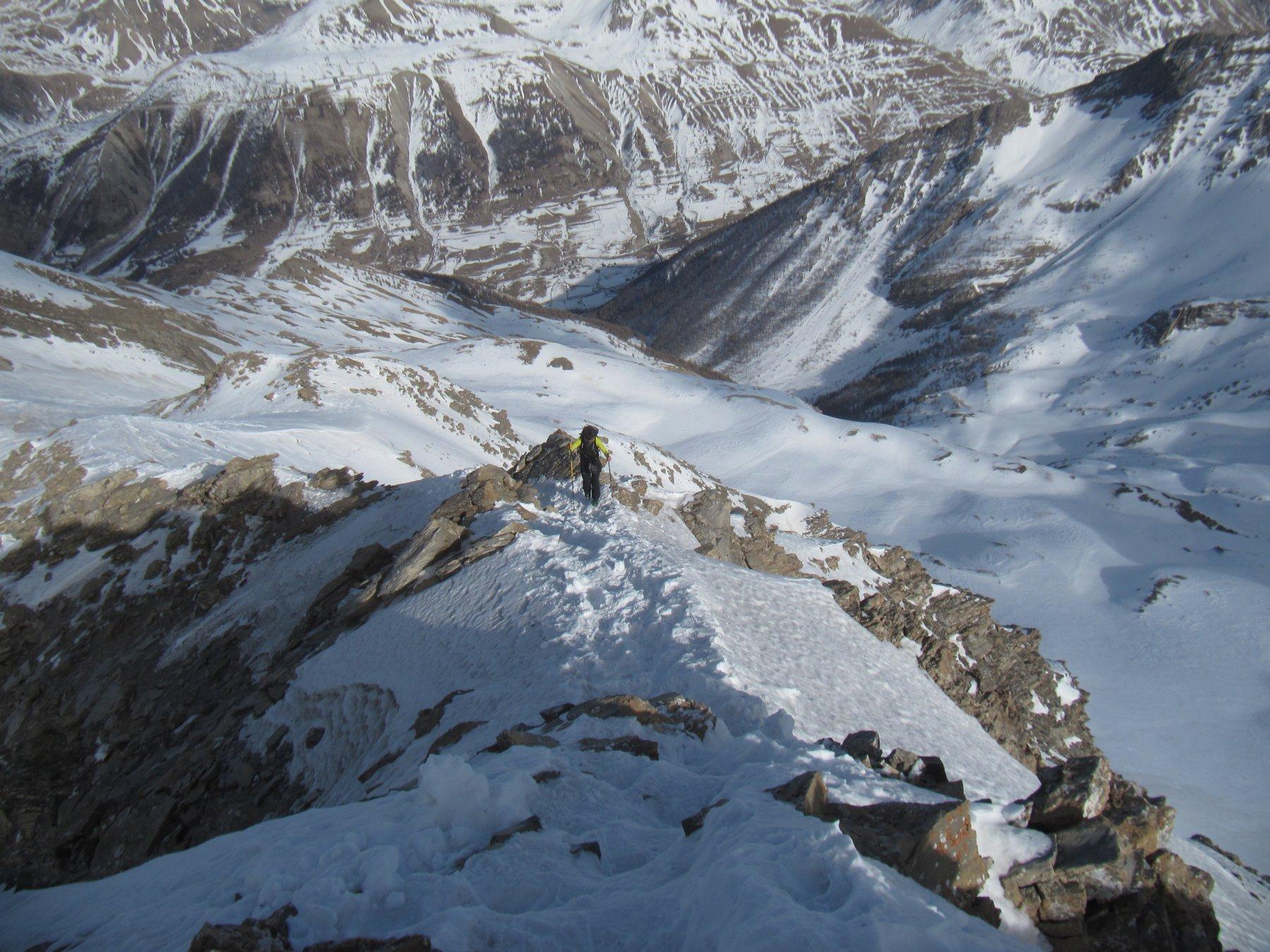 Salita alla cima del Pic du Chamois