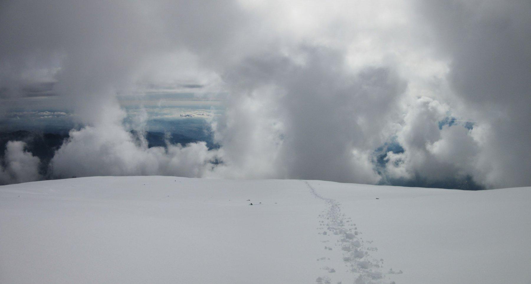 La mia traccia su neve intonsa