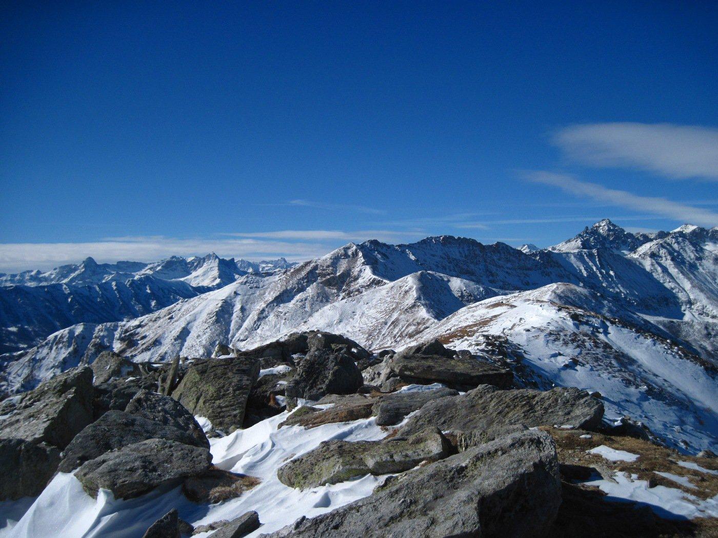 Panorama sulle montagne cuneesi