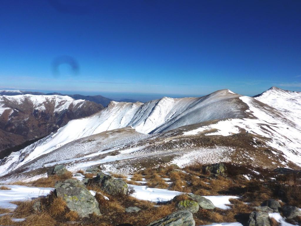 tutta la dorsale vista dal Monte Borel