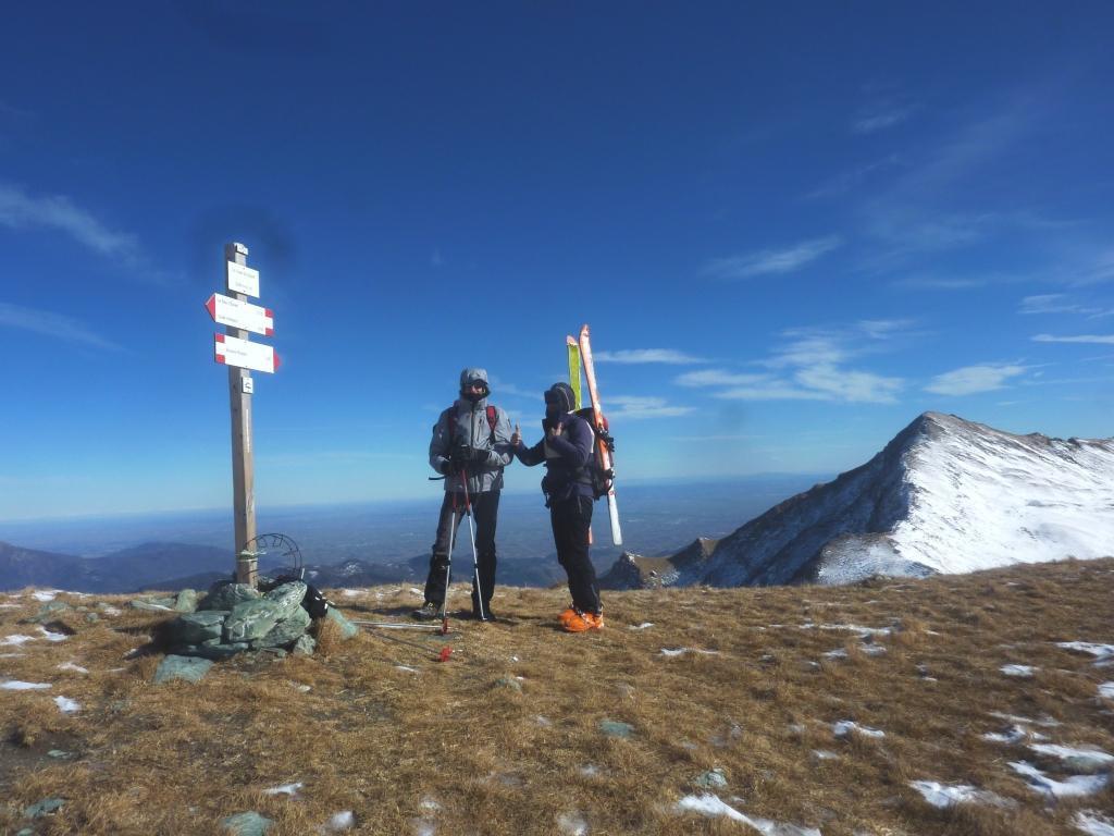 Punta Gibert-Omo e dietro il Monte Bram