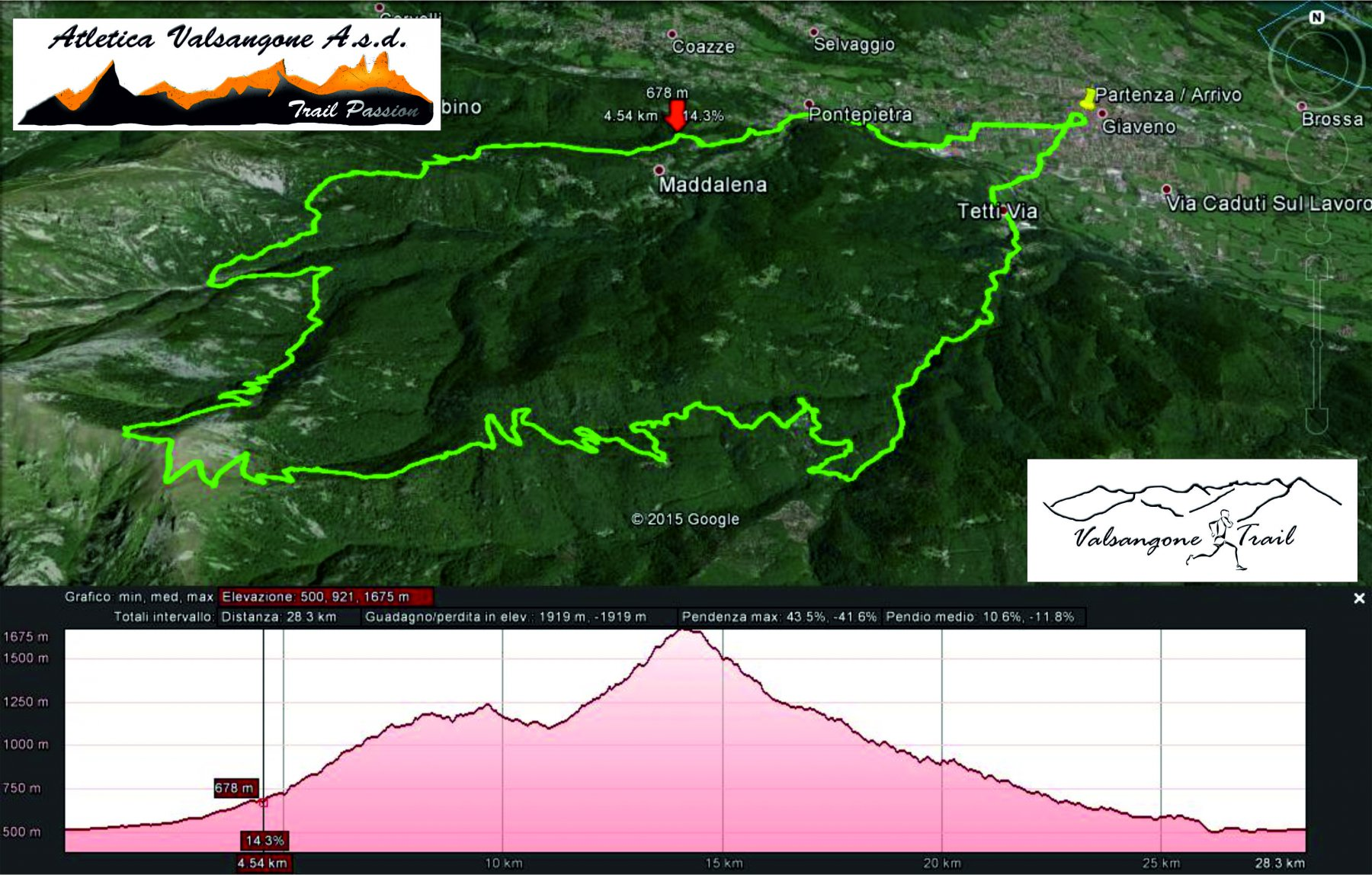 Valsangone Trail lungo