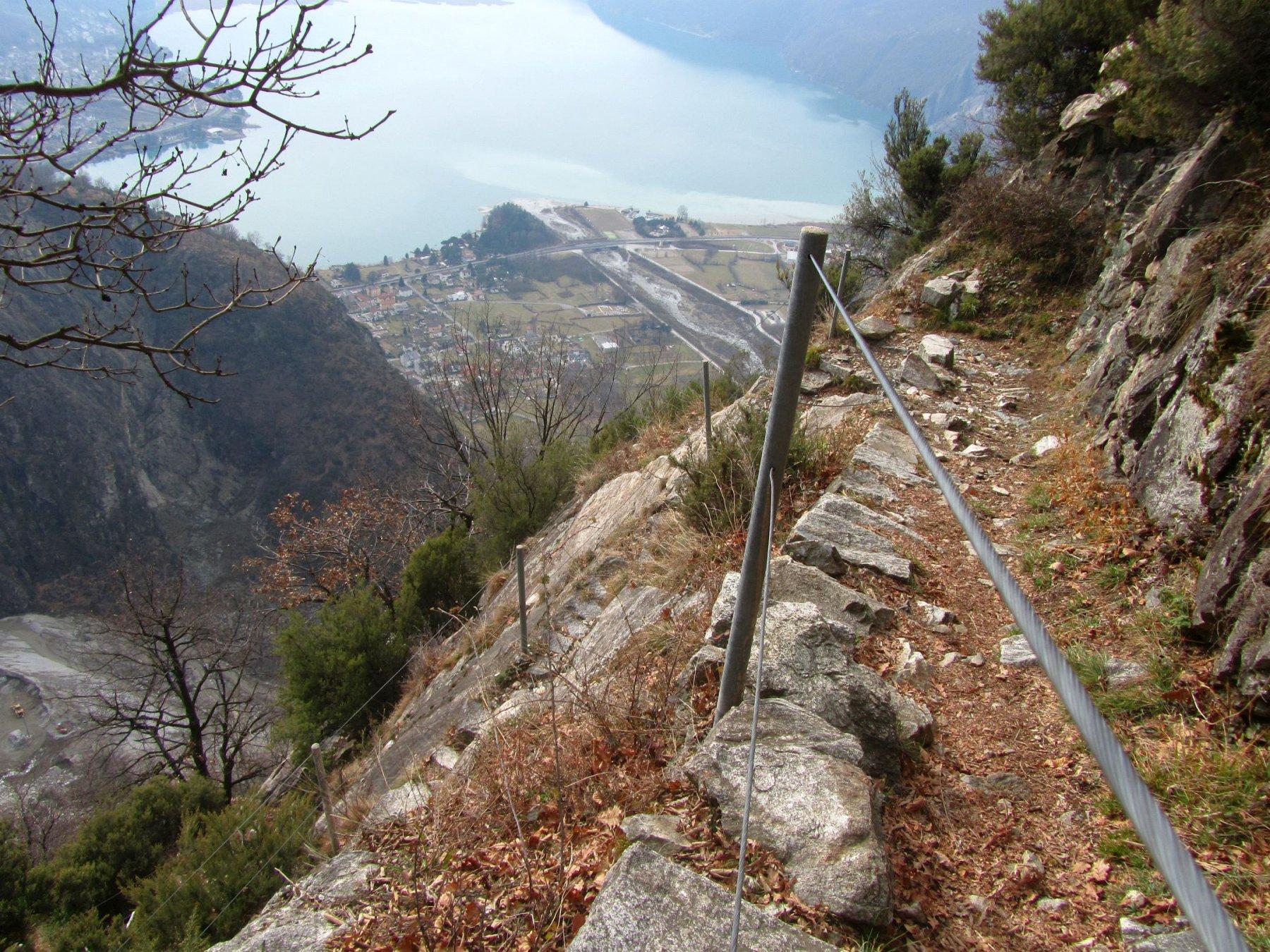 Traversata Verceia - Novate Mezzola Sentiero del Tracciolino 2016-02-12