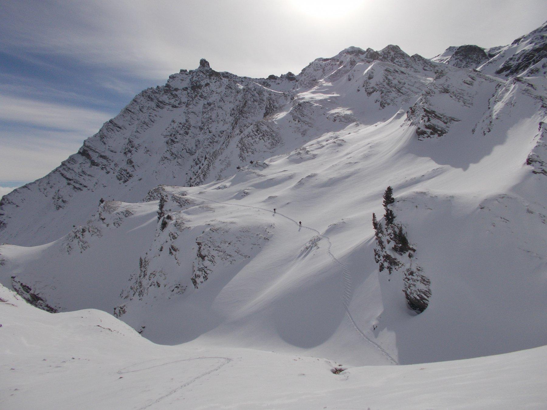 tanta e' la neve..sullo sfondo della Tour Real..