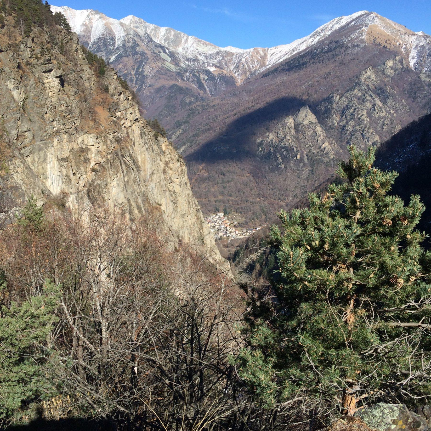 Panorama dal sentiero di rientro