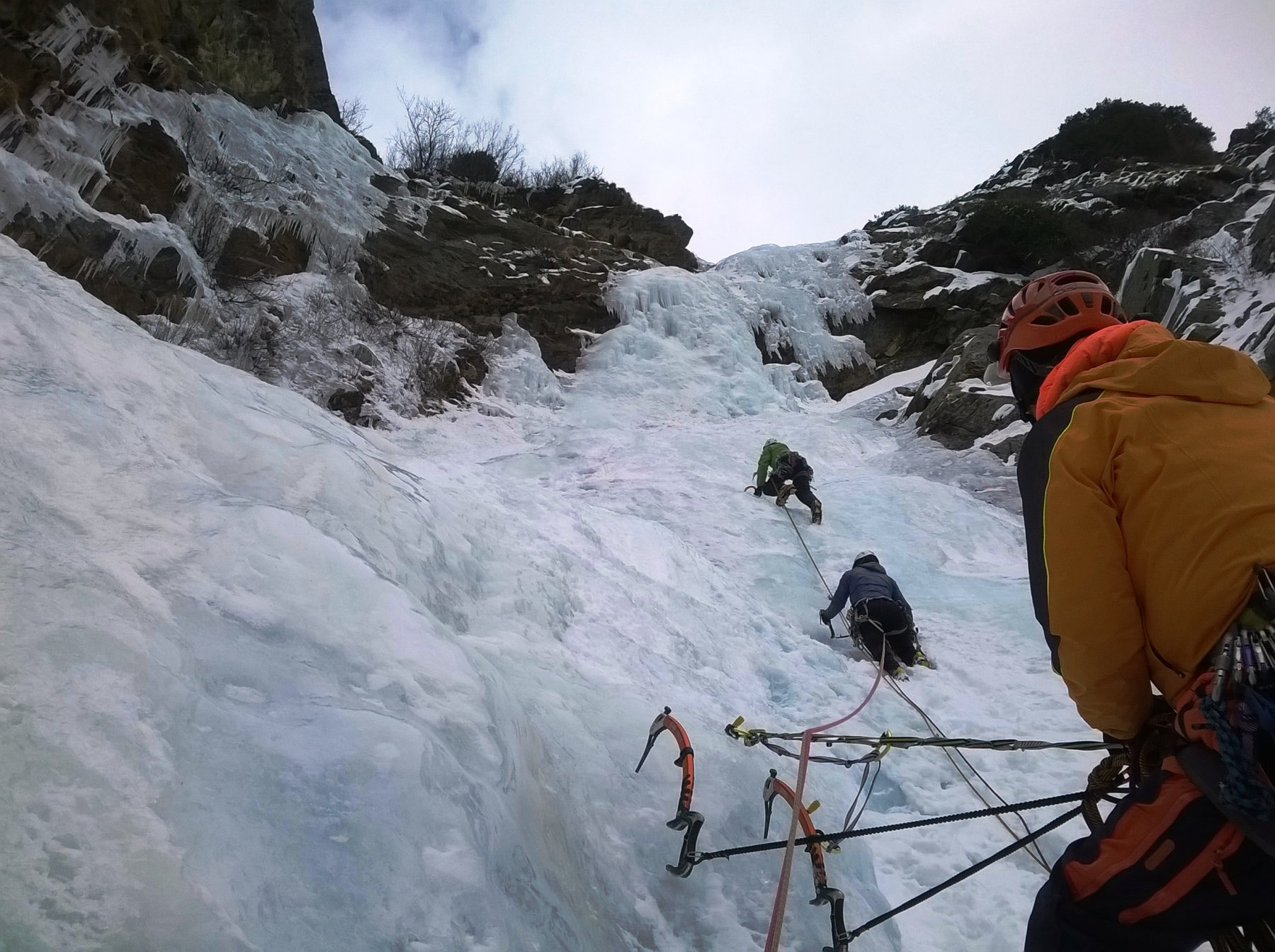 Hard Ice in the Rock (Cascata) 2016-02-20