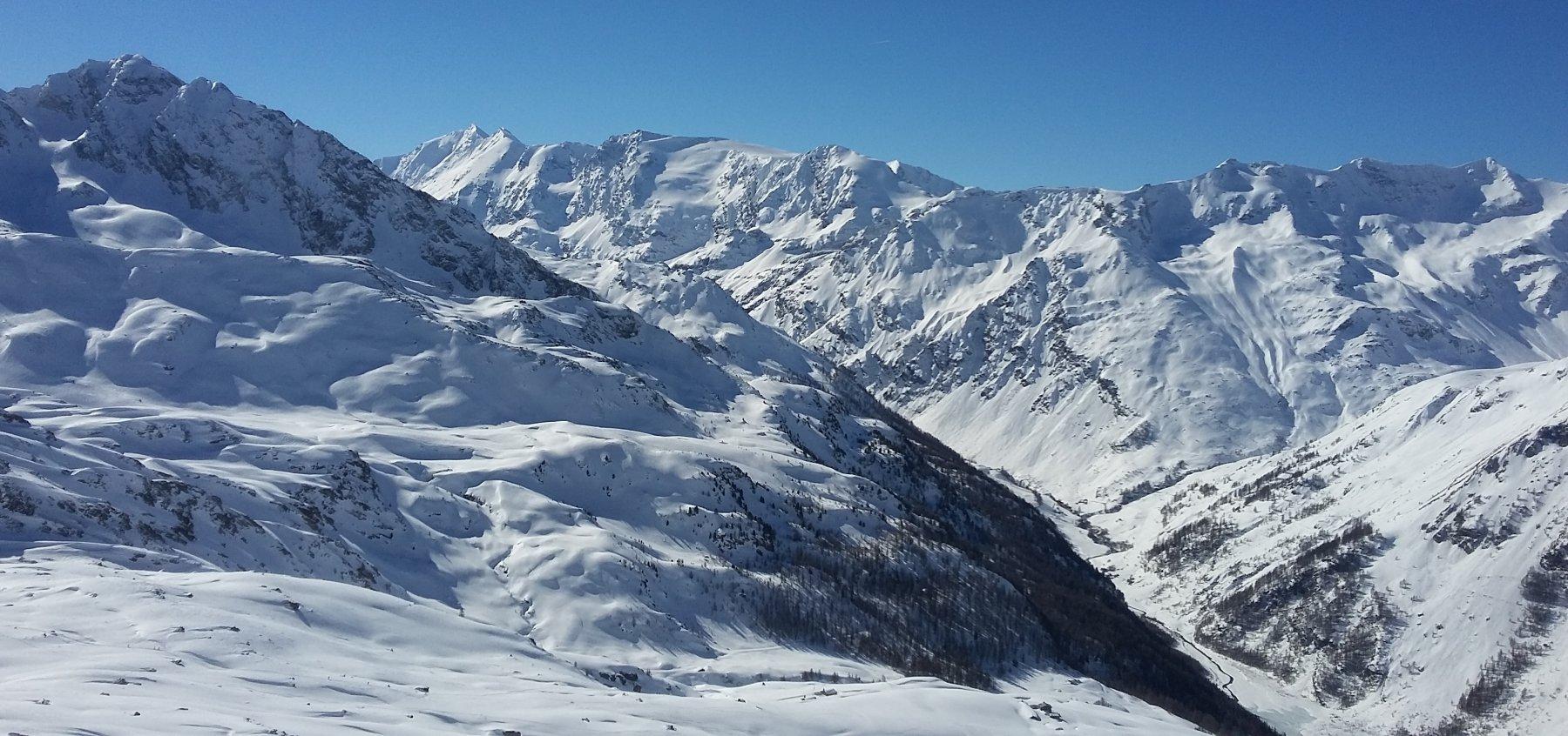 dal colle, vista sulla alta Valgrisenche