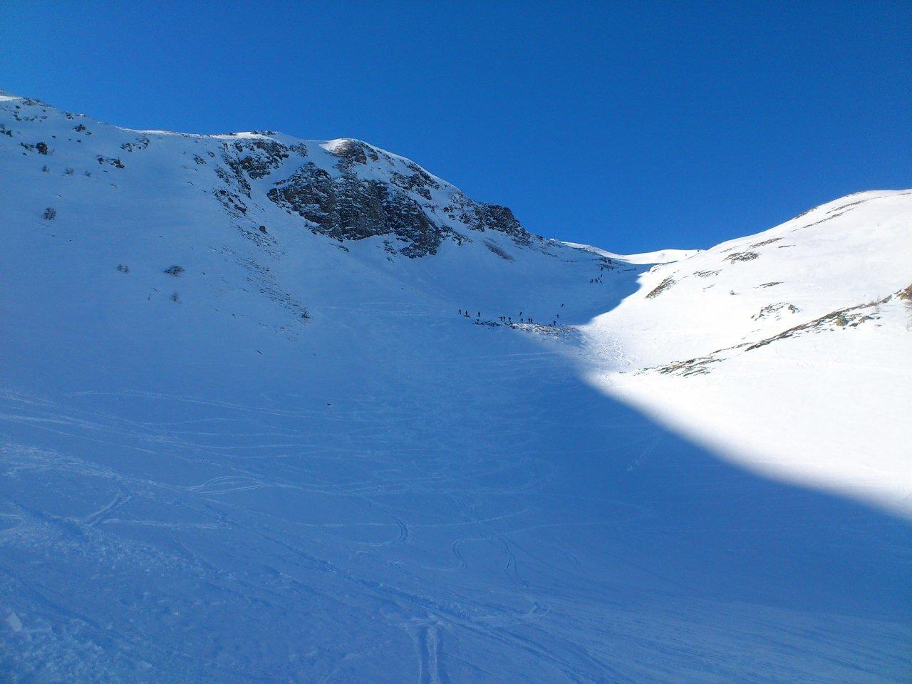 tratto della discesa all'alpe Chaligne