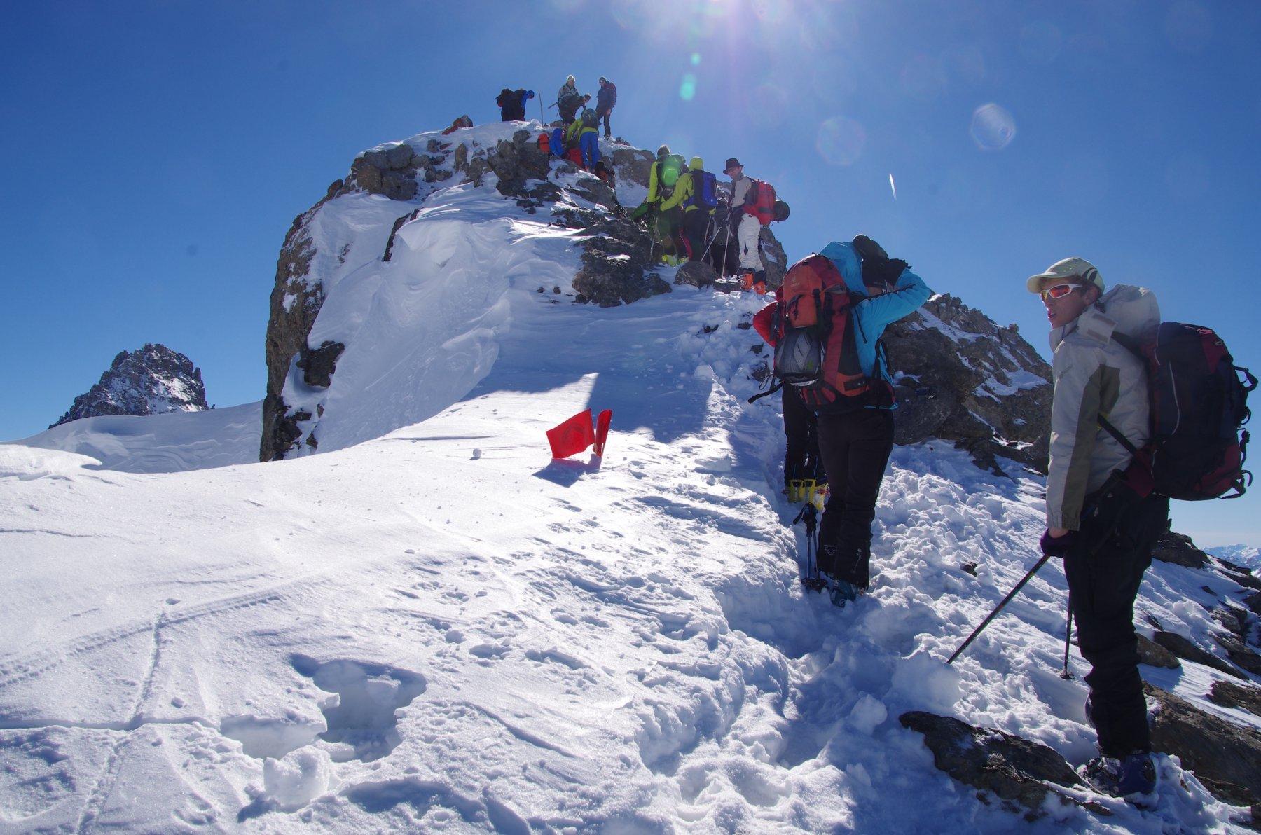 Ultimi passi per la cima