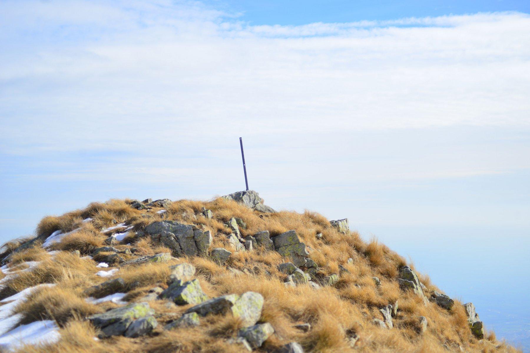 Punta Cugno dell'Alpet sull'ultimo crinale