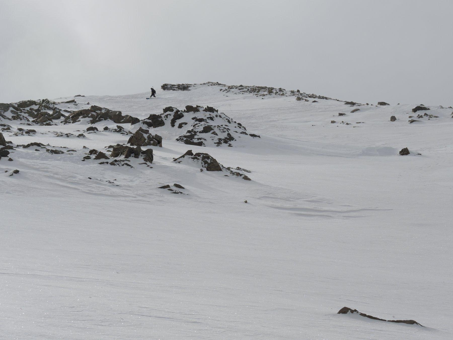 Discesa dalla quota 2968 m
