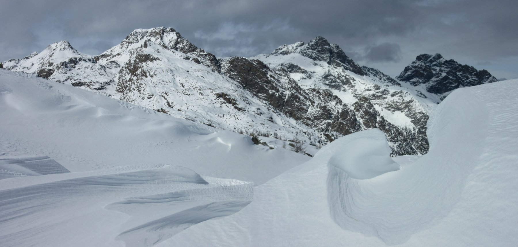 Neve ventata al Colle