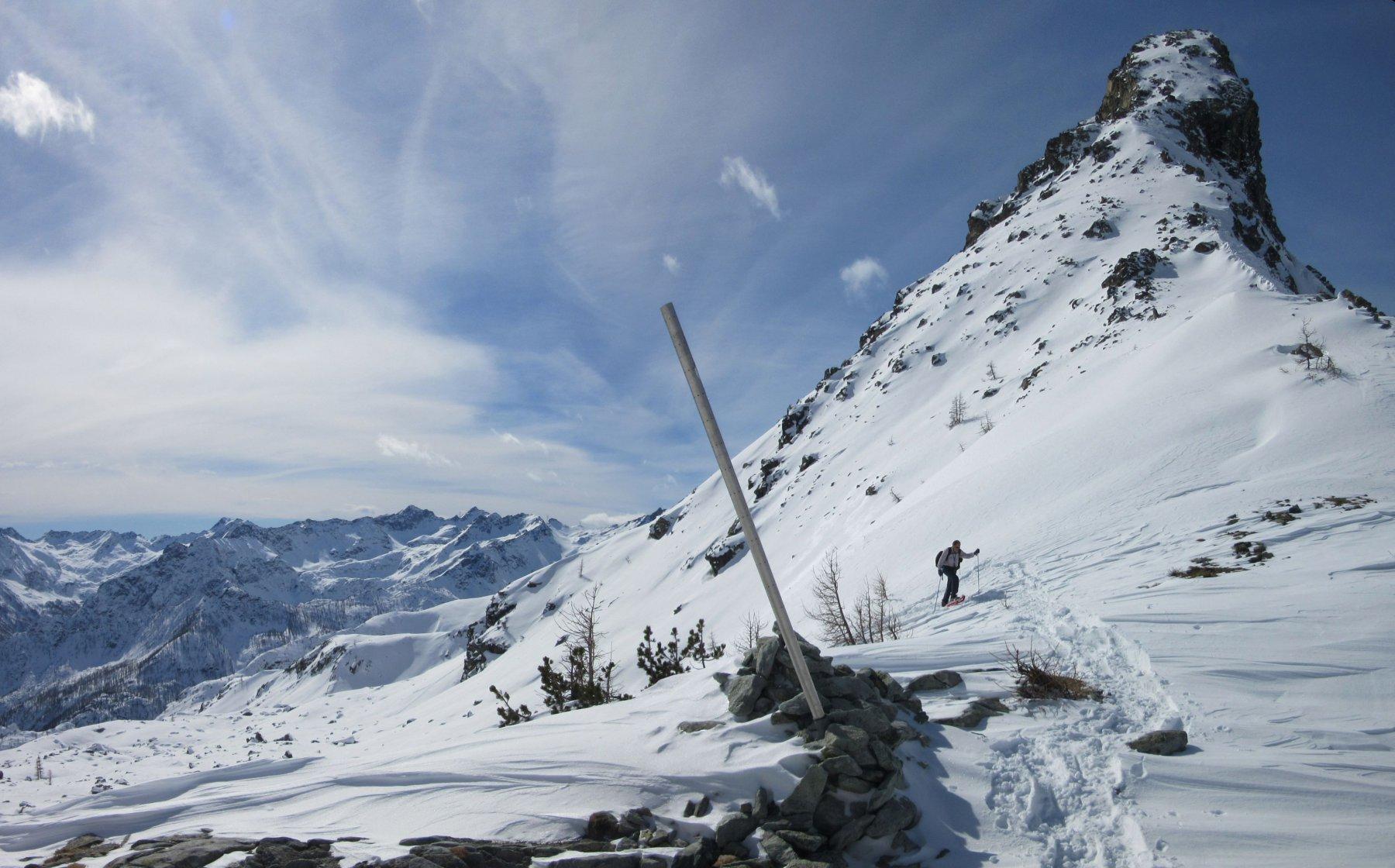 Lago Bianco (Colle del) da Mont Blanc 2016-03-02