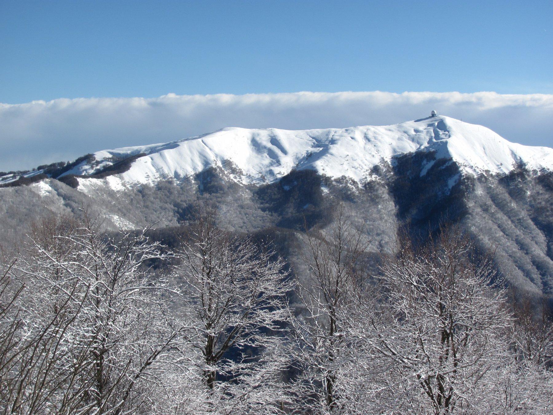 Il Monte Lesima, visto da poco dopo la partenza