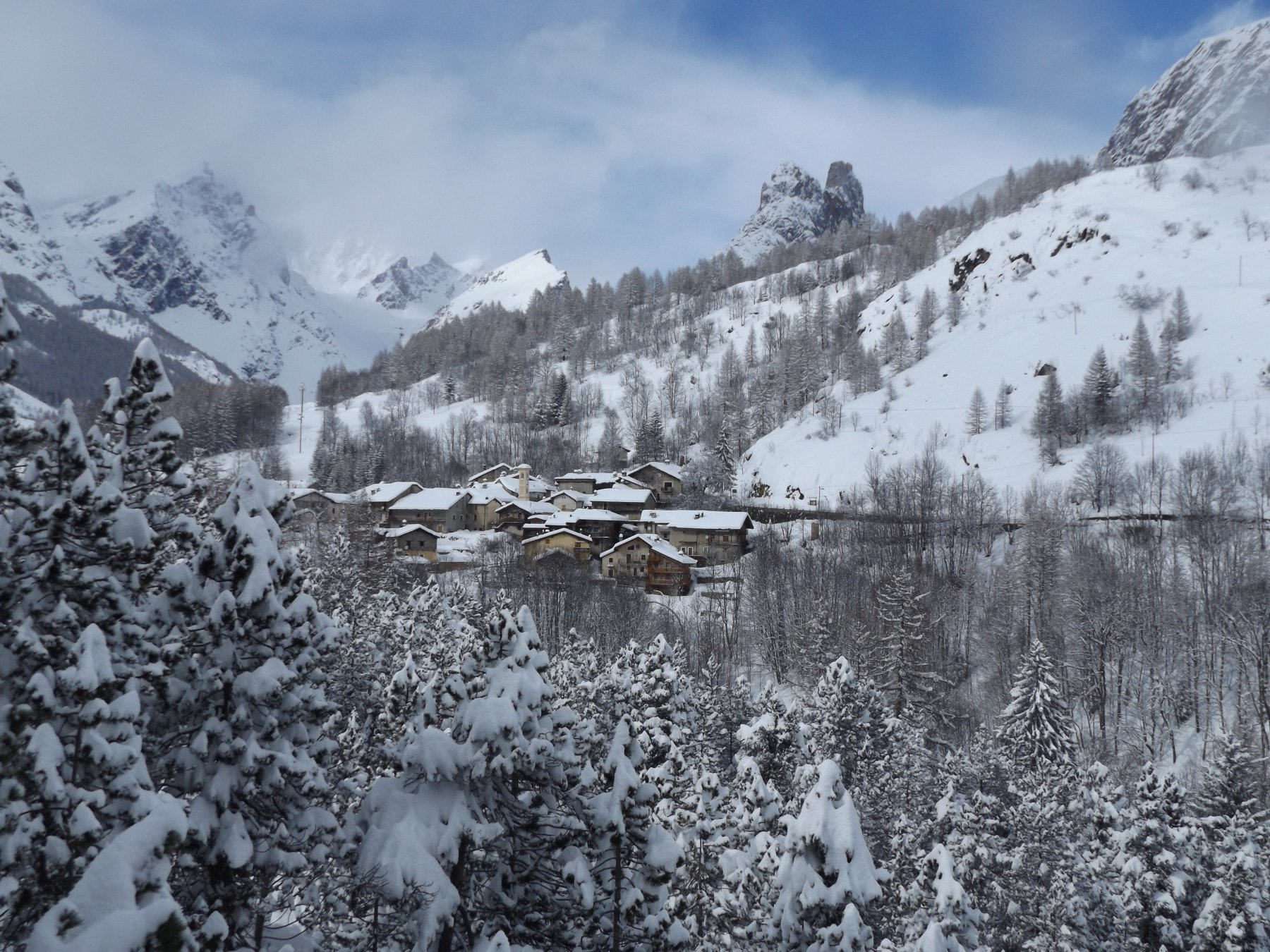 Panorama sulla borgata Saretto
