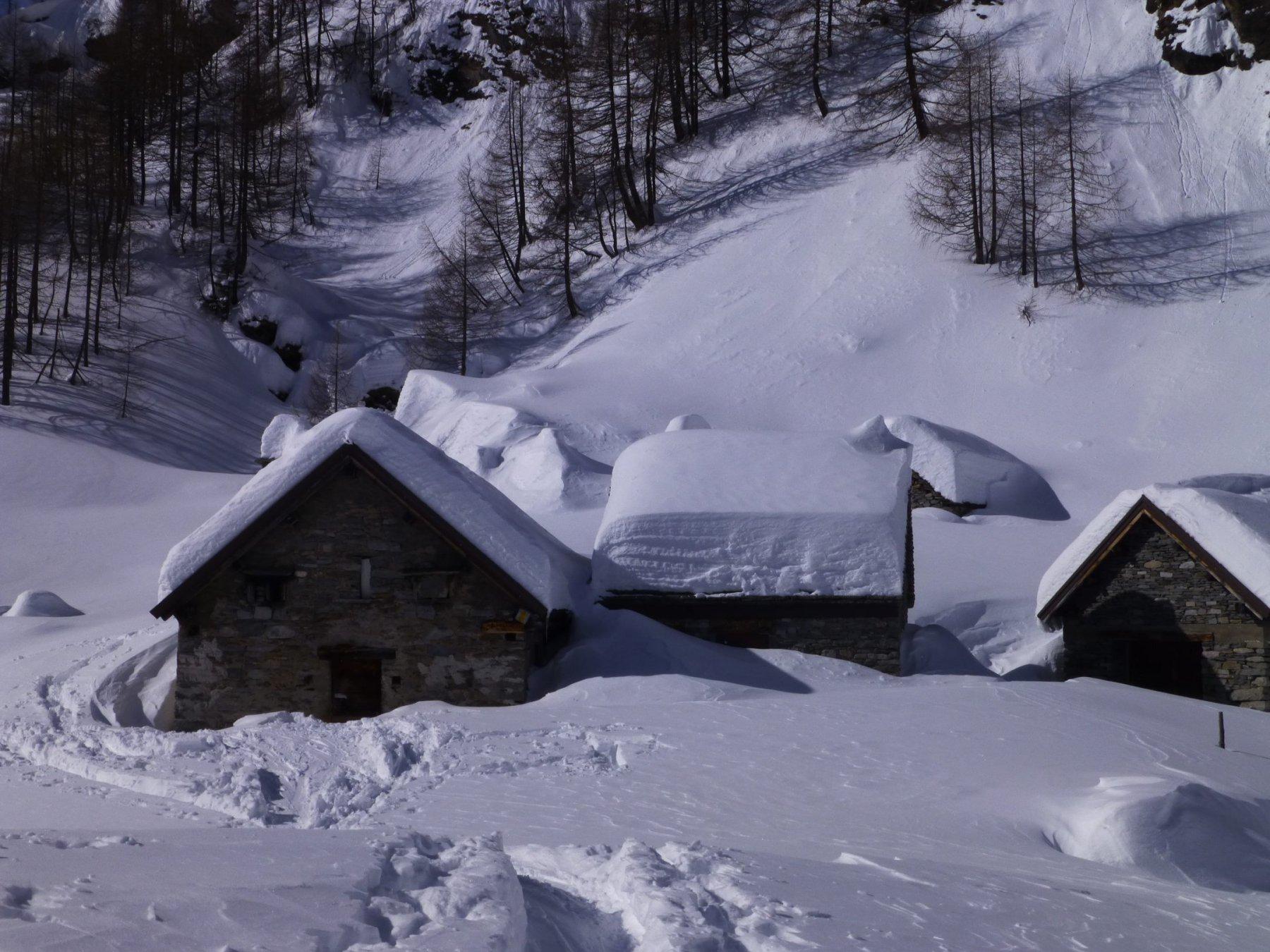 La neve caduta in abbondanza.