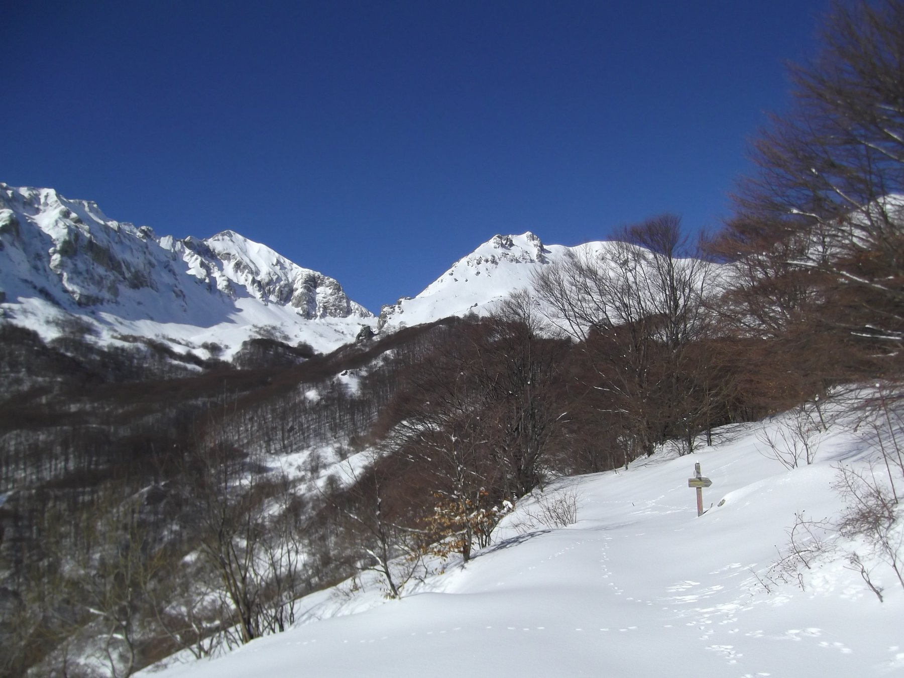 Monte Grosso a dx visto dalla parte bassa.