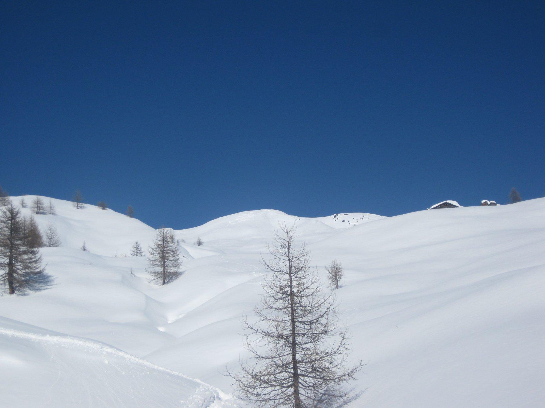 molta neve verso il colle